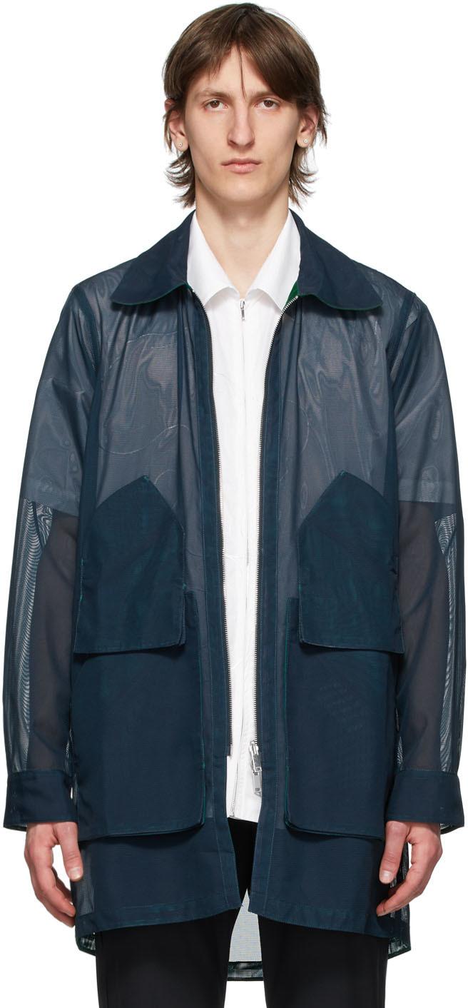Reversible Navy Mesh Jacket