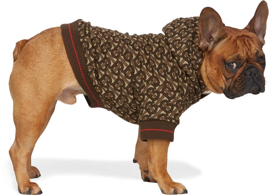 Brown Monogram Dog Hoodie