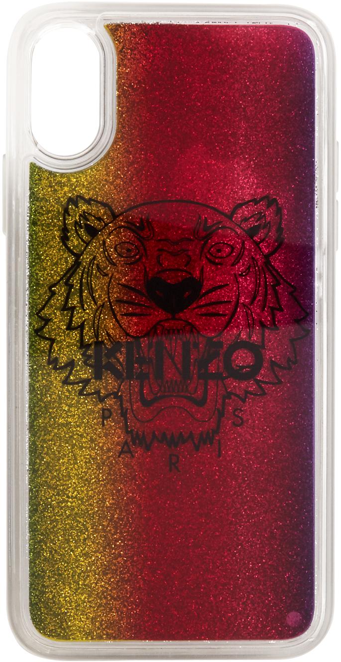 Multicolor Glitter Tiger Head iPhone X/XS Case