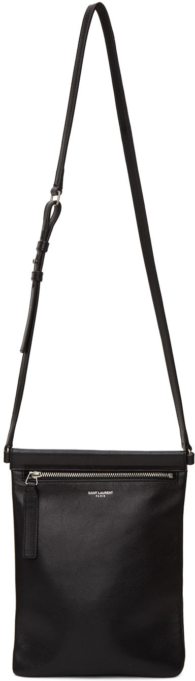 Black Flat Sid Cross Body Bag
