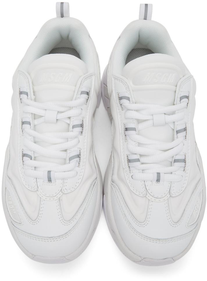 MSGM: White Chunky Sneakers | SSENSE UK