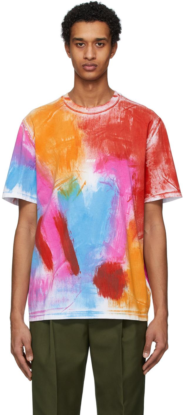 Multicolor Paint Pattern T-Shirt