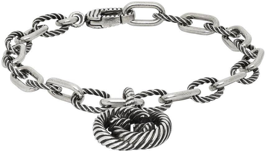 Gucci 银色 Interlocking G 手链