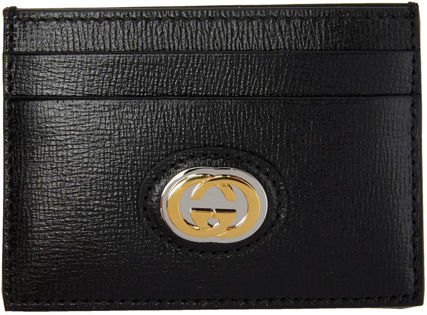 Black GG Marina Card Holder