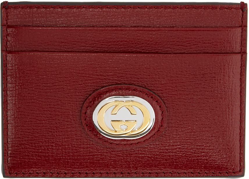 Red Interlocking G Card Holder