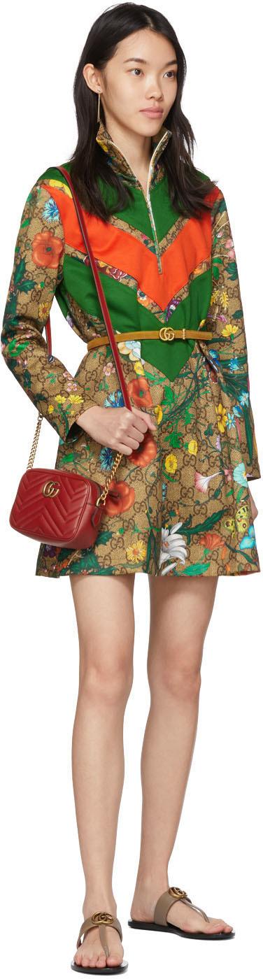 Gucci Red Mini Gg Marmont 2 0 Camera Bag Ssense