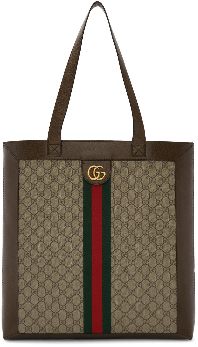 Gucci ブラウン & ベージュ GG オフィディア トート