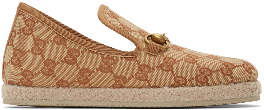 Gucci 驼色 & 棕色 GG Fria 乐福鞋