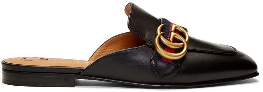 Gucci 黑色 Peyton 乐福鞋