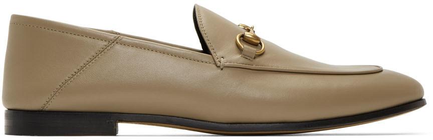 Gucci 灰褐色 Brixton 乐福鞋