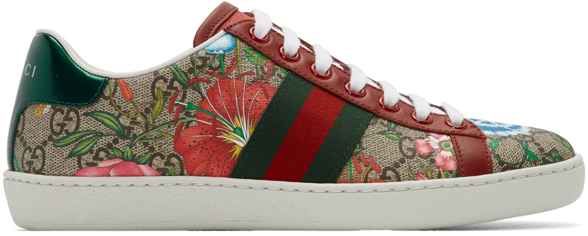 Gucci: Multicolor GG Flora Ace Sneakers