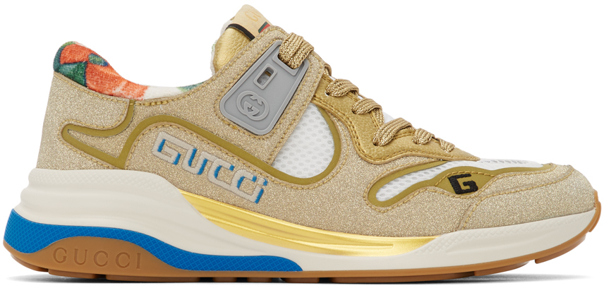 Gucci 金色 Ultrapace 运动鞋