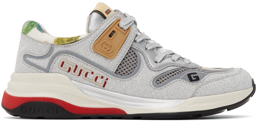 Gucci 银色 Ultrapace 运动鞋