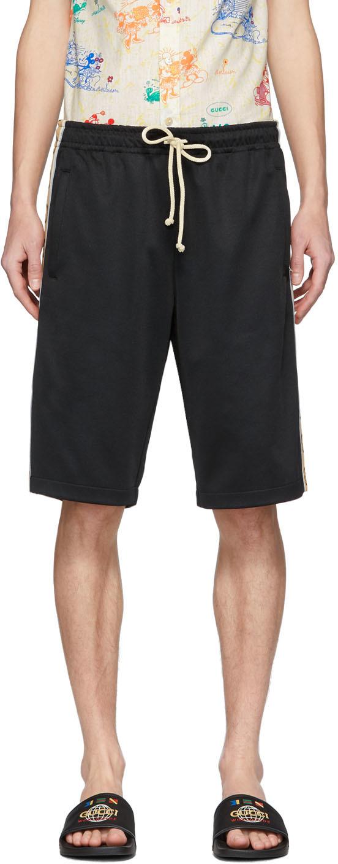 Gucci 黑色 GG 机能平纹针织短裤