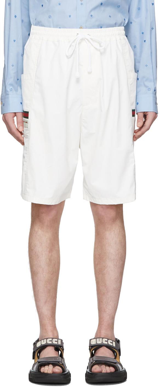 Gucci 灰白色运动短裤
