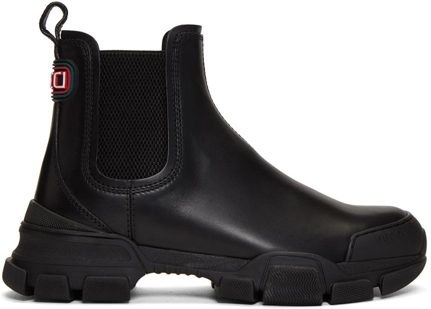 Gucci 黑色 Leon 切尔西靴