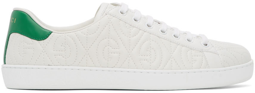 Gucci 白色 G Rhombus New Ace 运动鞋