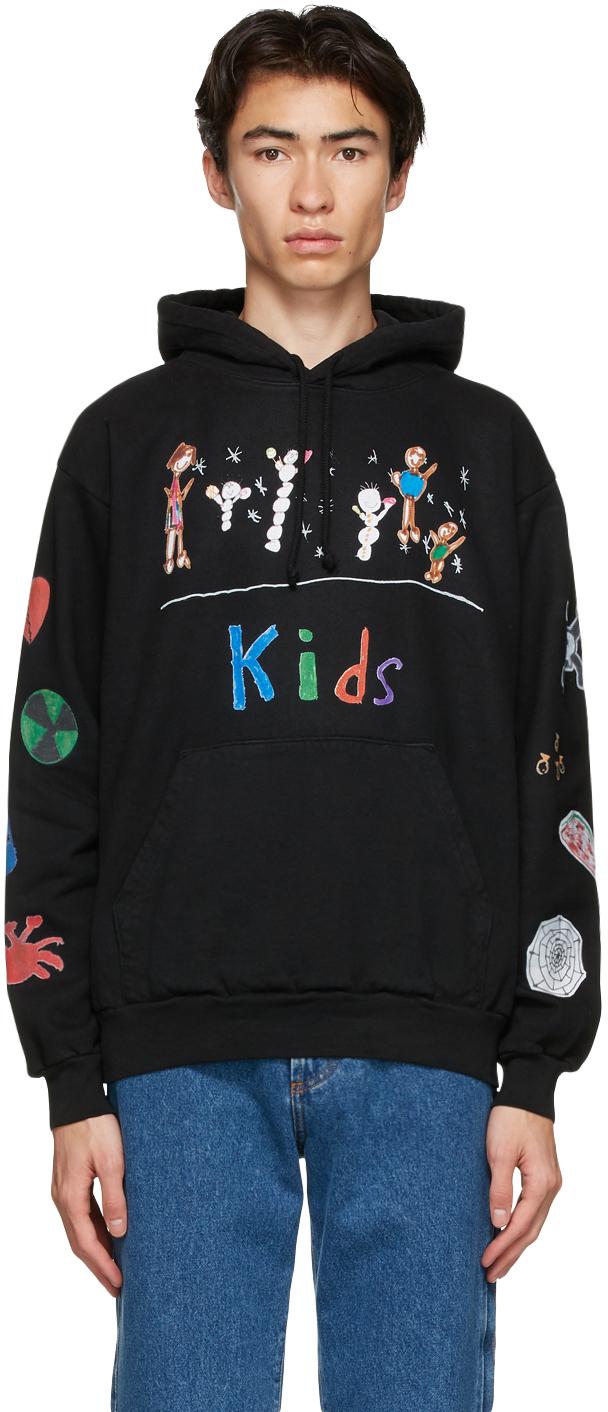 Black 'Kids' Hoodie