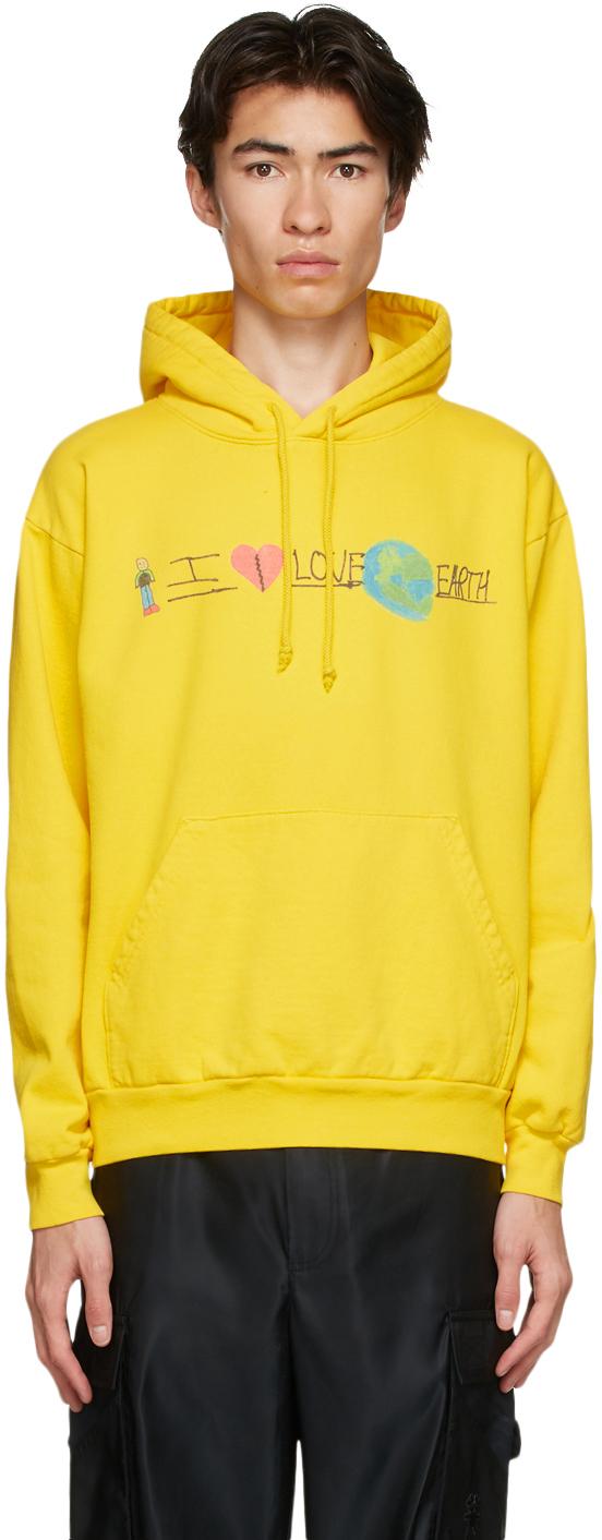 Yellow 'I Love Earth' Hoodie