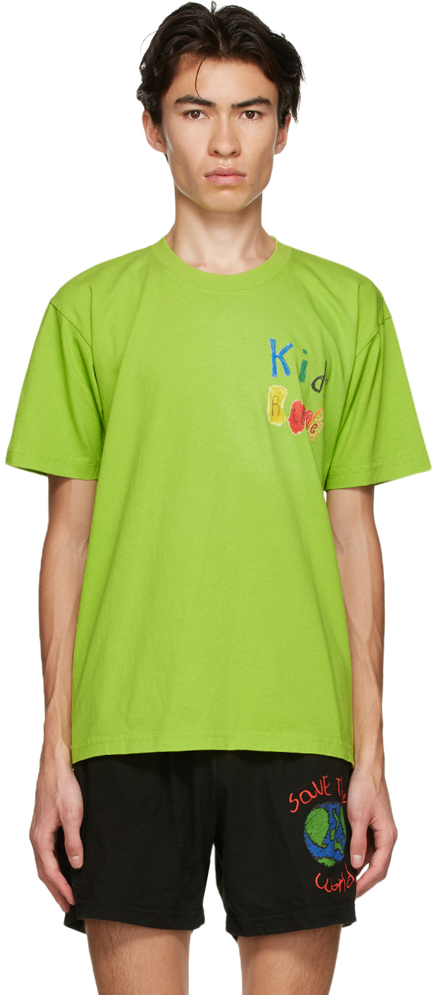 Green 'Kids Rule' T-Shirt