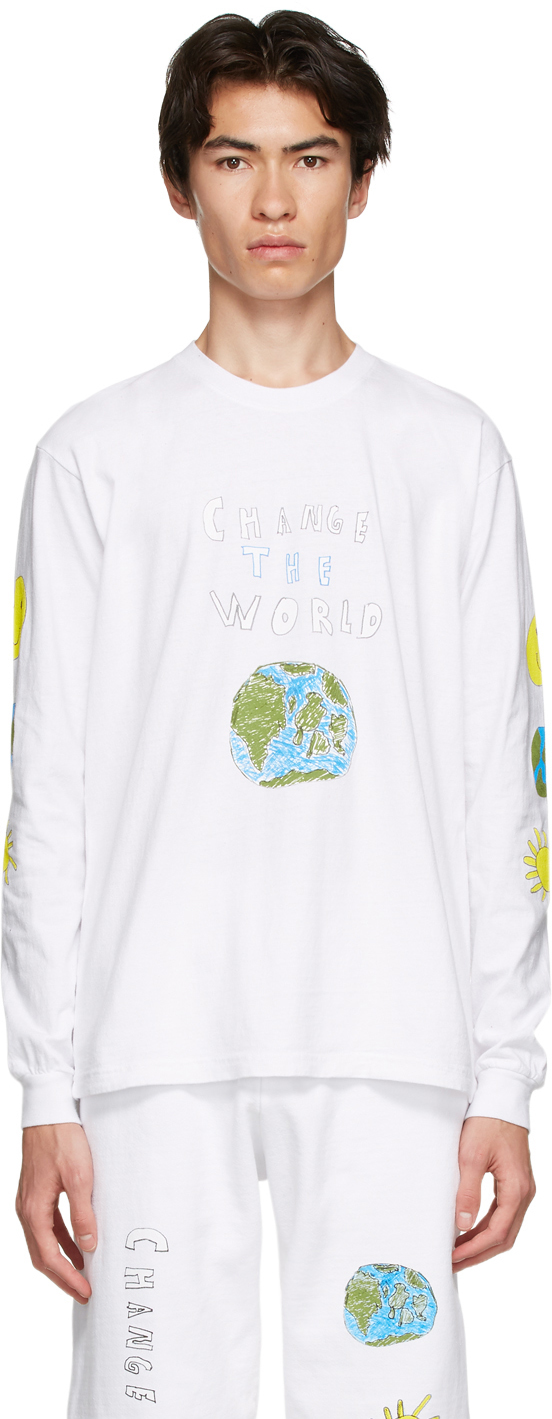 White 'Change The World' T-Shirt