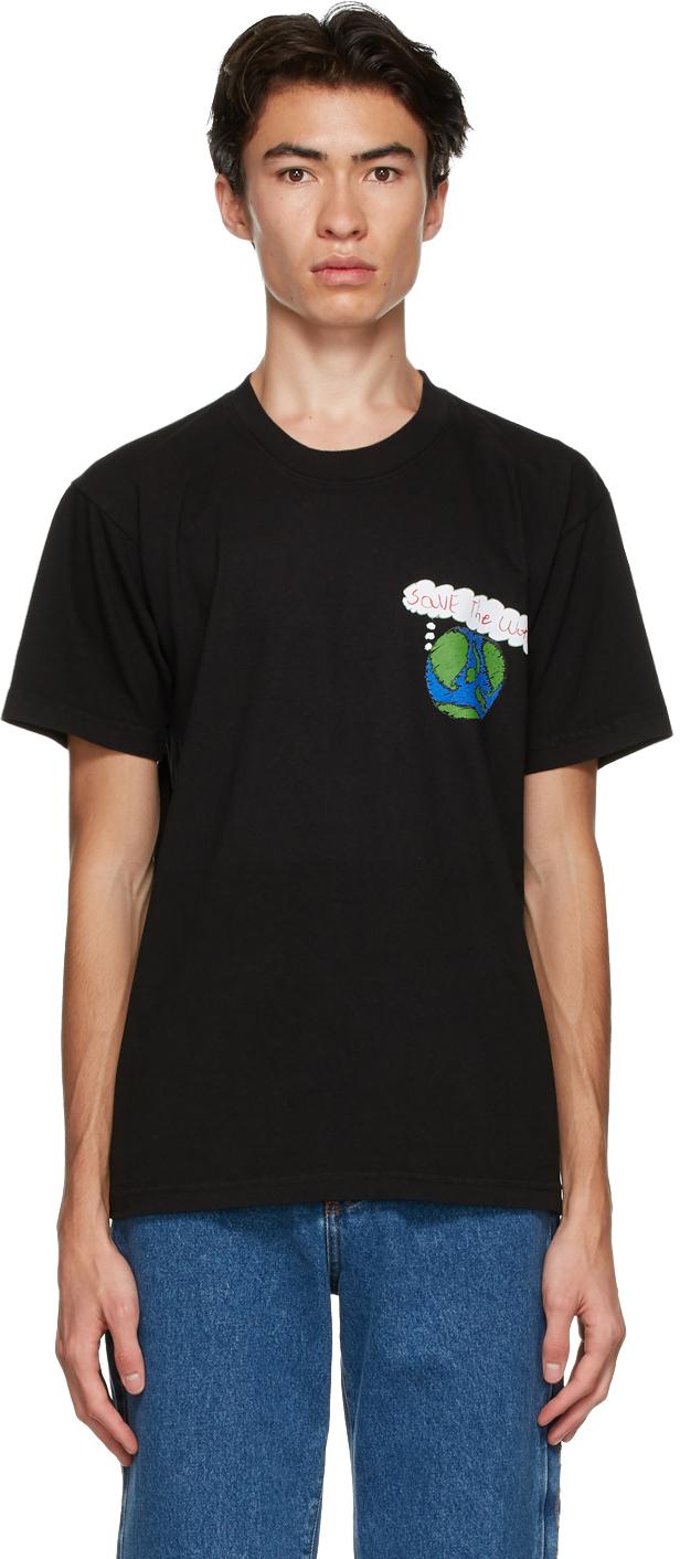Black 'Save The World' T-Shirt