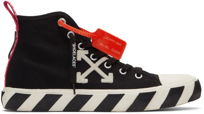 Black \u0026 White Arrows Mid-Top Sneakers