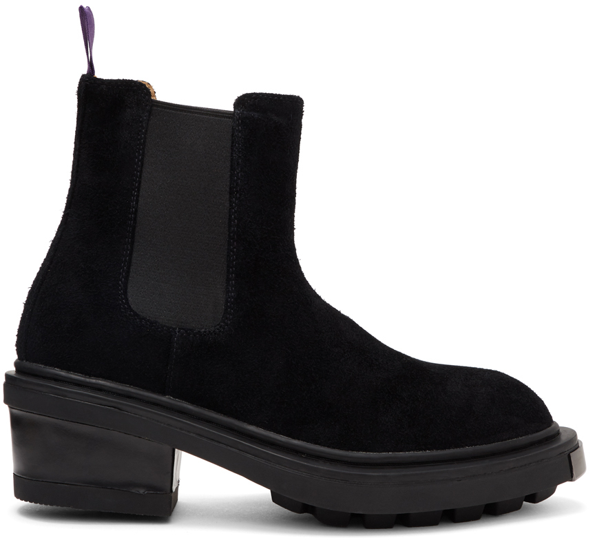 Black Suede Nikita Chelsea Boots by