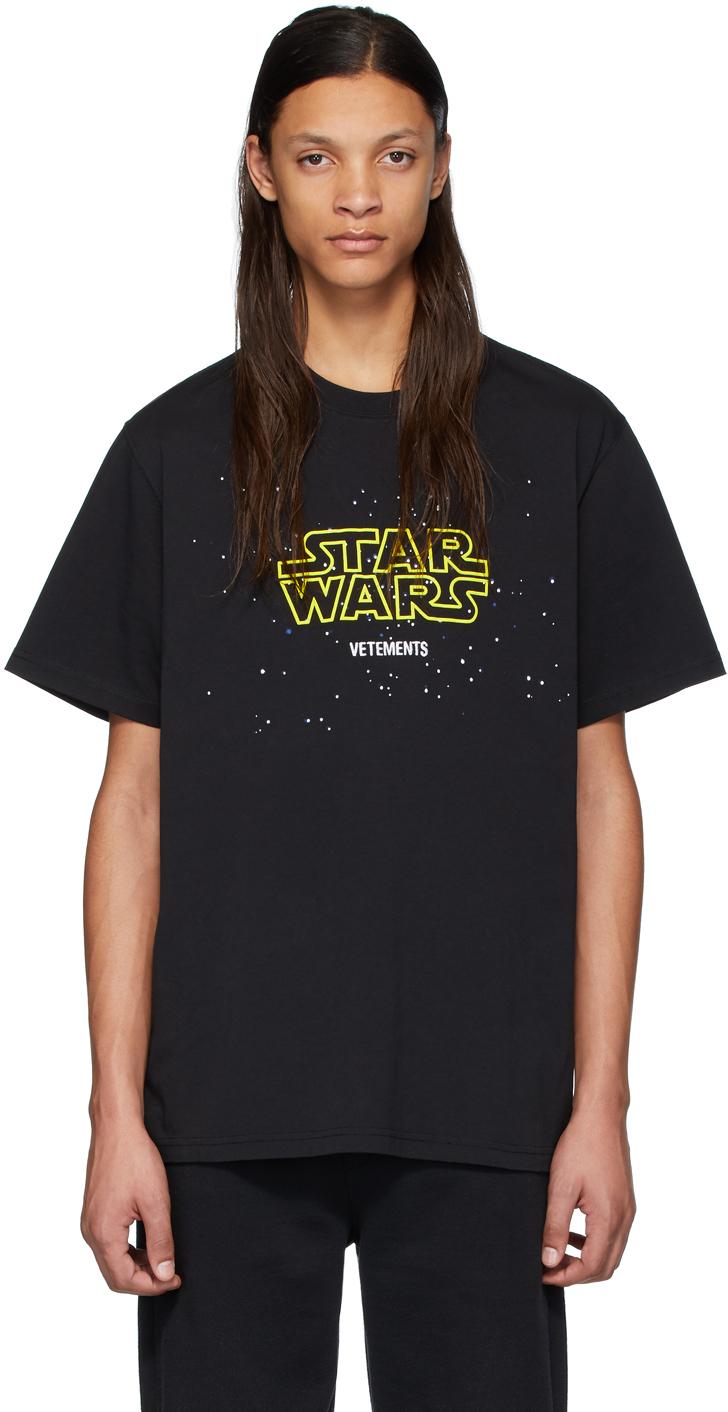 T-shirt noir Episodes édition STAR WARS VETEMENTS