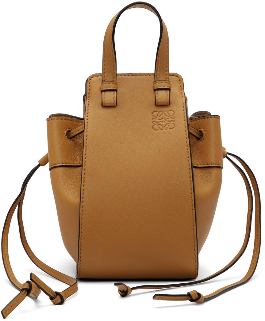 Loewe Tan Mini Hammock Bag