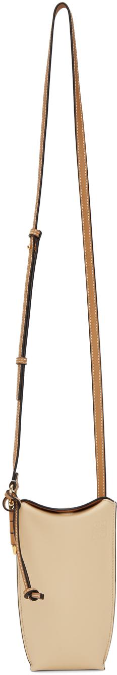 Loewe Beige & Tan Gate Pocket Bag