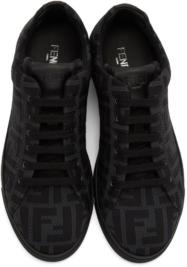 Black 'Forever Fendi' Sneakers | SSENSE UK