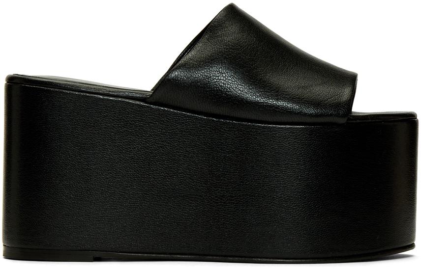 Simon Miller 黑色 Blackout 厚底凉鞋