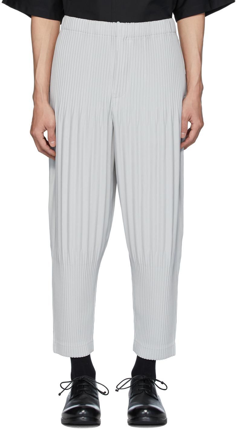 pantalon homme plissé