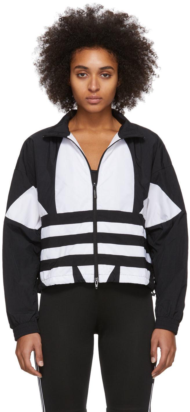 Black & White Large Logo Track Jacket