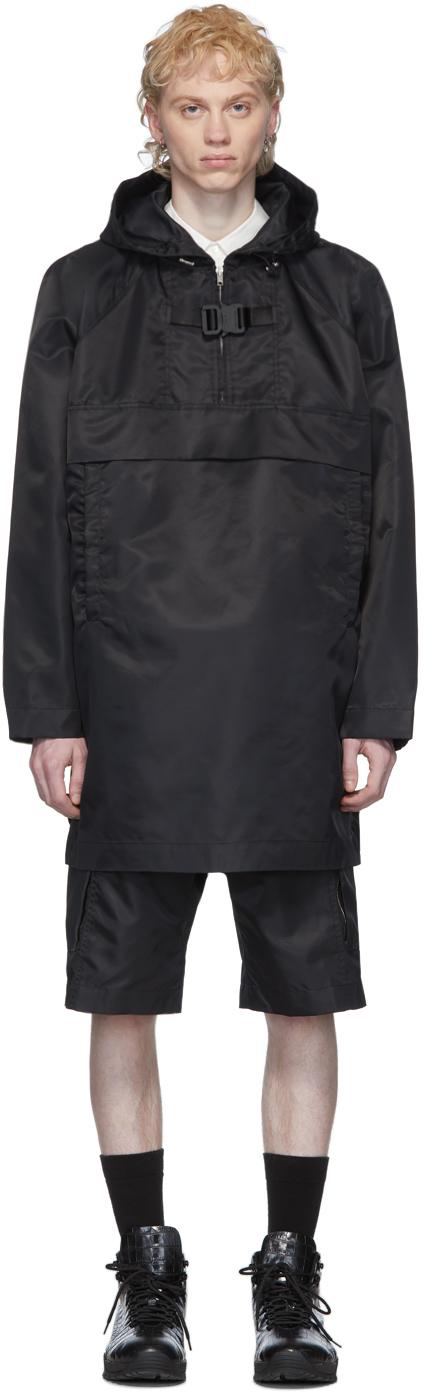 1017 ALYX 9SM Black Oversized Pullover Coat 201776M176046