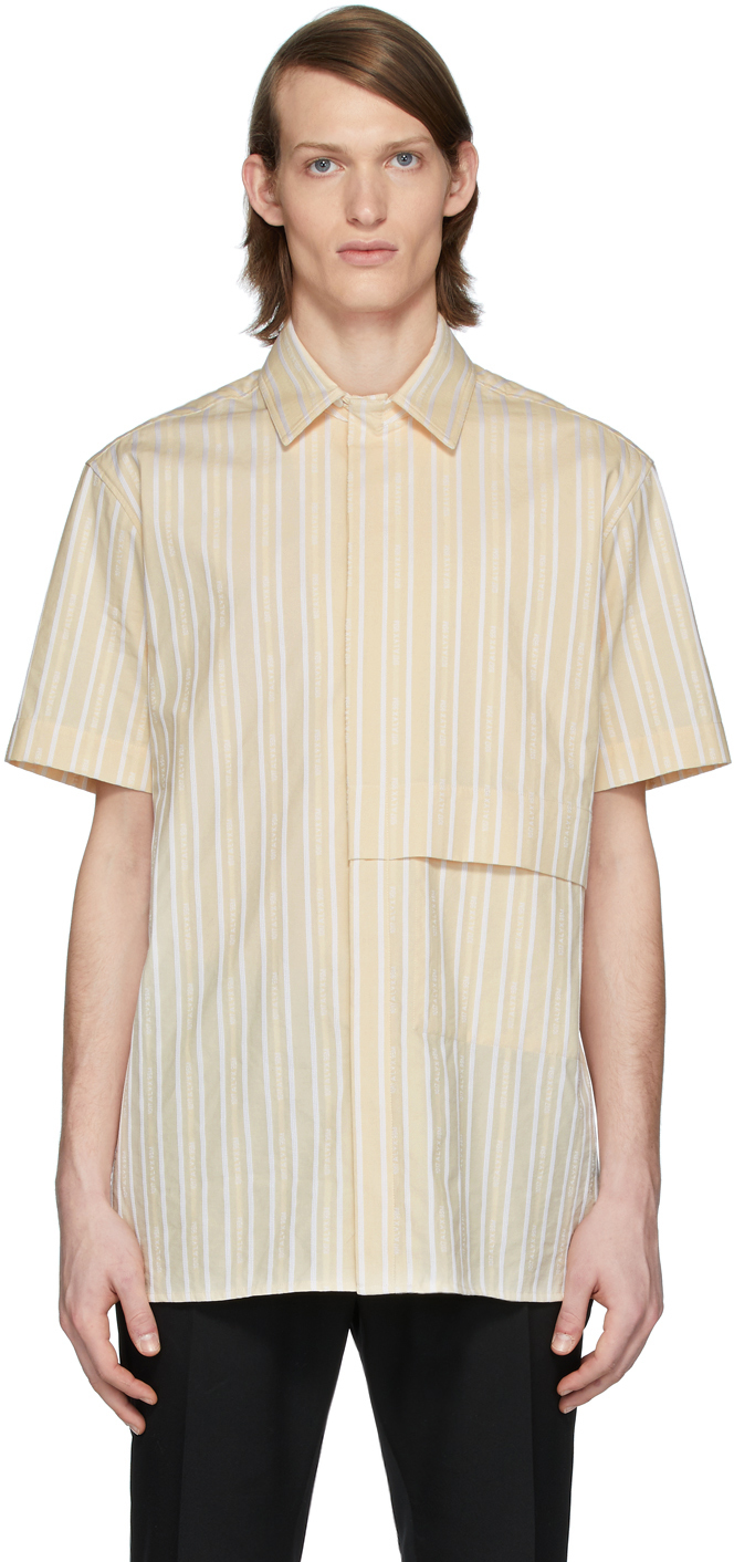 1017 ALYX 9SM Beige White Logo Shirt 201776M192054