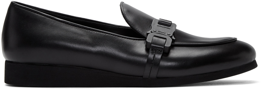 1017 ALYX 9SM Black St Marks Buckle Loafers 201776M231015