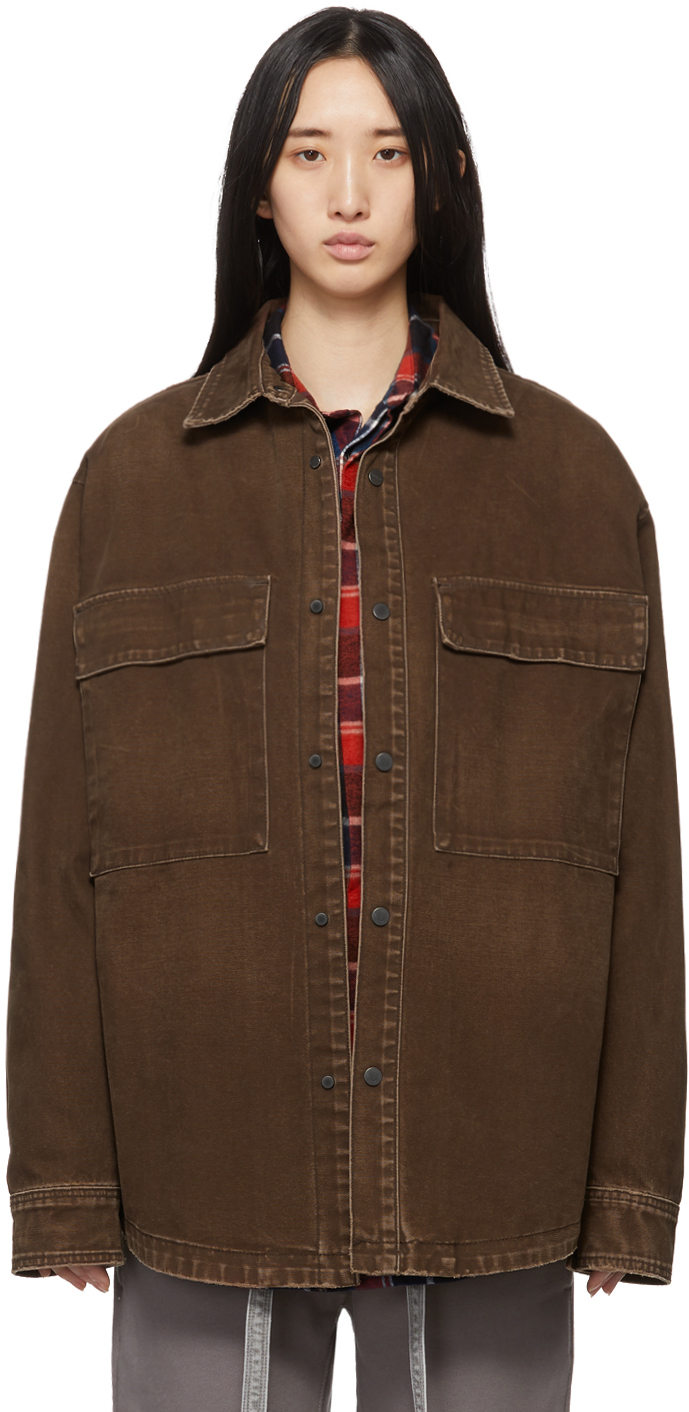 Brown Washed Canvas Shirt