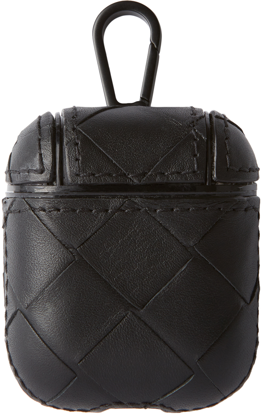 Bottega Veneta 黑色 Intrecciato 无线耳机盒