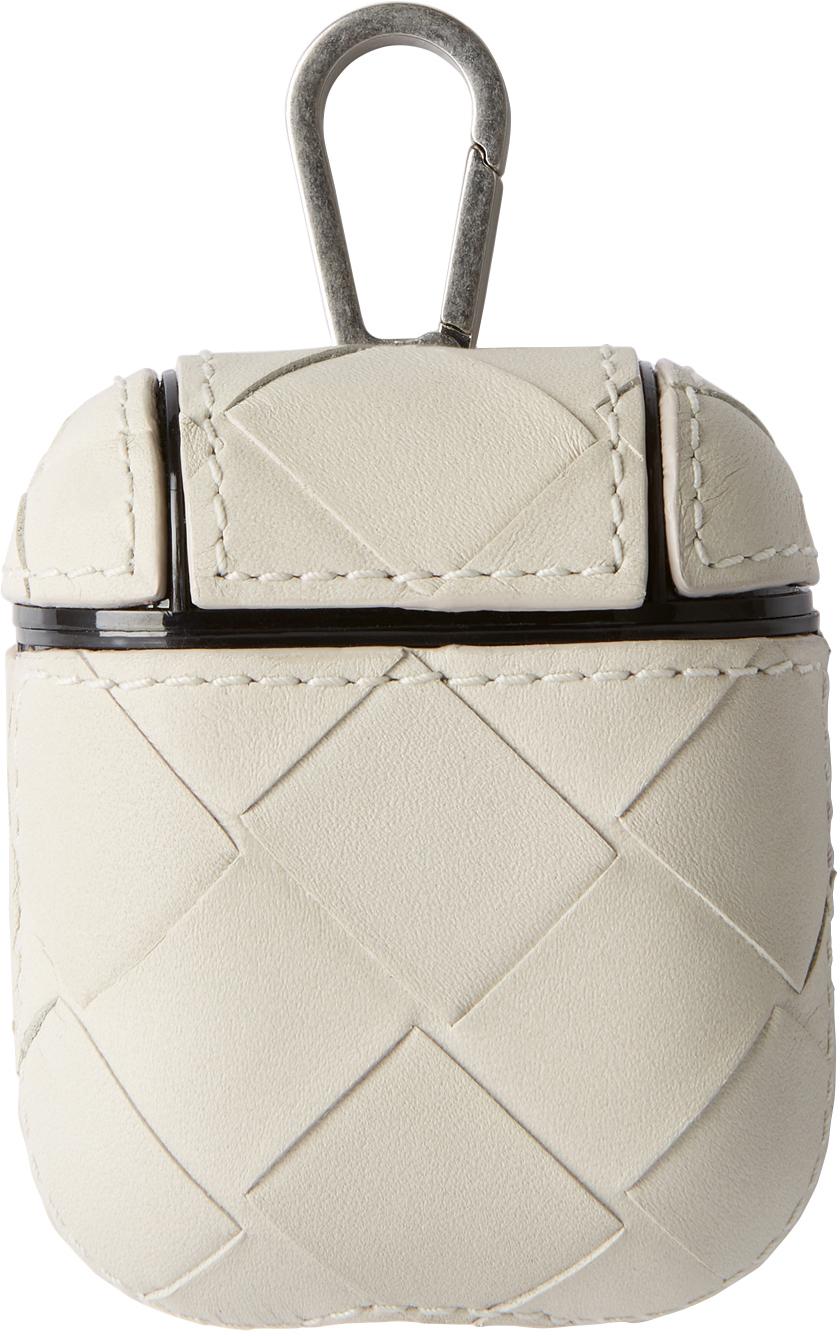Bottega Veneta 灰白色 Intrecciato 无线耳机盒