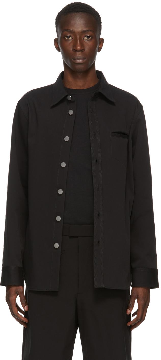 Bottega Veneta 黑色帆布衬衫