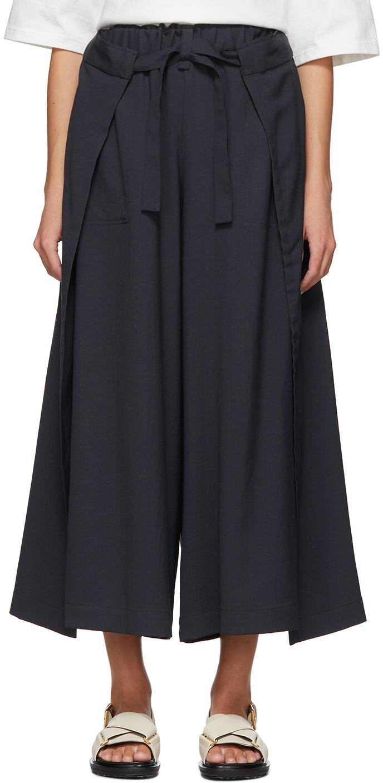 Black Wrap Trousers