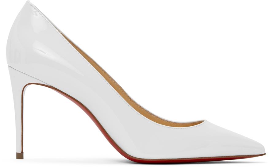 Christian Louboutin: White Patent Kate