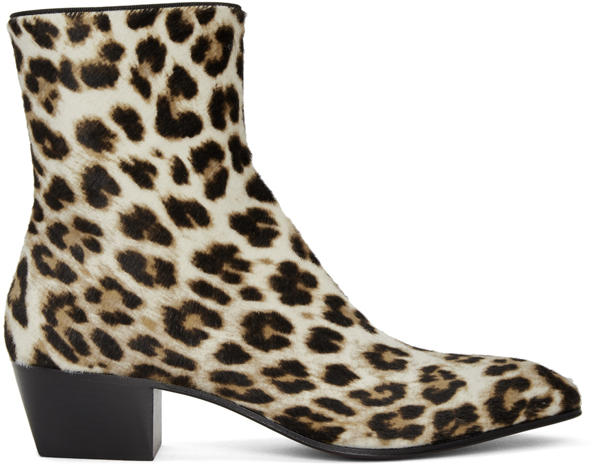 Christian Louboutin 黑色 & 白色 Jolly 踝靴