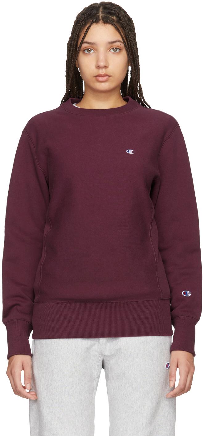 burgundy champion hoodie
