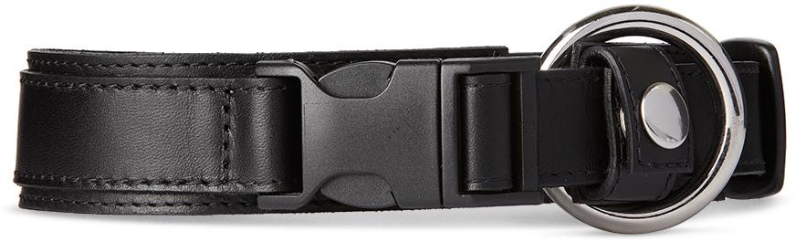 032c Black Leather Collar 201843M184039