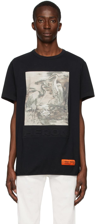 Black 'Heron' T-Shirt