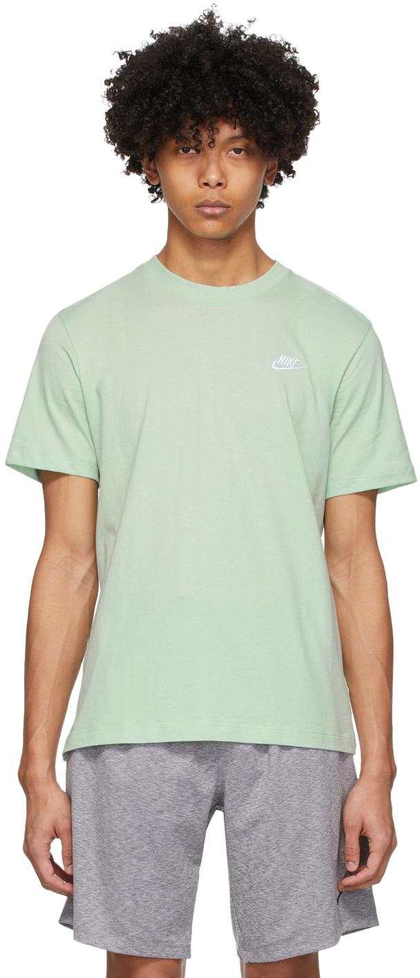 Rama Sistemáticamente Aprendizaje  Nike: Green Club T-Shirt | SSENSE