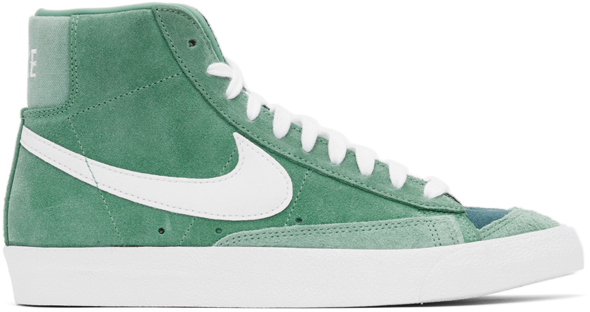 green-and-white-suede-blazer-mid-77-snea